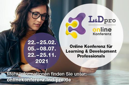 Veranstaltungsbild L&Dpro Online Konferenz 22.-25. November 2021