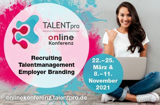 Veranstaltungsbild TALENTpro Online Konferenz - November 2021
