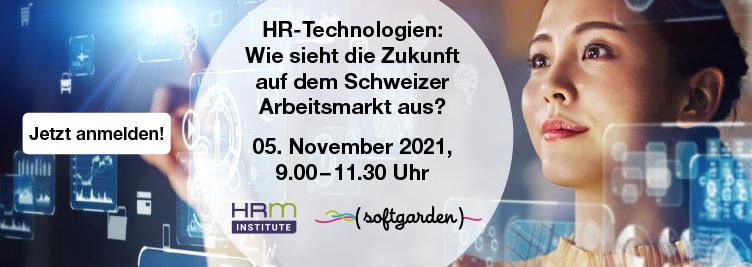 Veranstaltungsbild HR-Technologien: Wie sieht die Zukunft auf dem Schweizer Arbeitsmarkt aus?